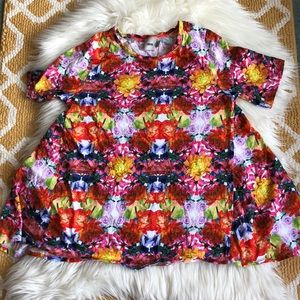 bright floral asos swing shirt size 2